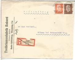 ALEMANIA 1932 CC CERTIFICADA BERLIN A GÖHREN SOBRE PUBLICITARIO - Germany