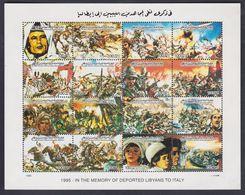 Libye N° 1941 / 56 XX A La Mémoire Des Déportés, Les 16  Valeurs Sans Charnière Imprimées En Une Petite Feuille, TB - Libia