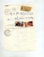 Lettre Recommandée Campeaux Sur Joux Acceuil - Marcophilie (Lettres)