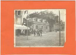 LOZERE : Mende, Photo Ancienne D'Epoque, Place Urbain V, Officiers Et Officiels Se Rendant Au Défilé Du 14 Juillet? RARE - Mende