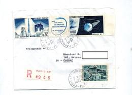 Lettre Recommandée Paris 47 Sur Satellite Fusée Deporte - Marcophilie (Lettres)