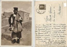 Costume Tipico Di Gavoi Sardegna - Venditore Di Mestore Cart.b/n 8gen1939 - Ambachten