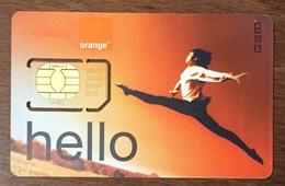 BELGIQUE ORANGE HELLO CARTE SIM NEUVE PHONE CARD QUE POUR LA COLLECTION - België