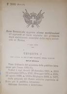 Decreto Regno Italia Ruolo Del Personale Stabilimenti Scientifici Di Torino 1884 - Old Paper