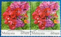 142.MALAYSIA USED STAMP FLOWERS - Malaysia (1964-...)