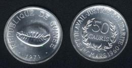 Guinea, 50 Cauris 1971, Unzirkuliert - Guinea