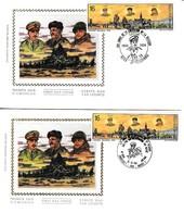50ème Anniversaire LIBÉRATION De La BELGIQUE - Lot De 6 Enveloppes Avec Oblitérations Différentes - FDC