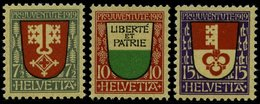 SCHWEIZ BUNDESPOST 149-51 **, 1919, Pro Juventute, Postfrisch, üblich Gezähnter Prachtsatz, Mi. 40.- - Unused Stamps