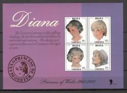 Liberia 1998 Princess Diana Memorial - 17-02-98 MS MNH - Liberia