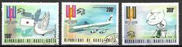 HAUTE VOLTA  -  Poste Aérienne  -  1974 . Y&T N° 174 à 176 Oblitérés.   UPU  /  Avion / Colombe. - Alto Volta (1958-1984)