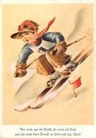 Grd For-ref Z367-sports D Hiver - Ski - Skieur -carte Autrichienne- Autriche -austria -illustrateurs Dessin Illustrateur - Deportes De Invierno
