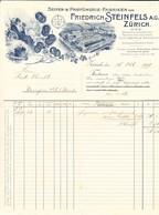 1909 Rechnung Der Seifen- Und Parfümerie Fabrik Von F. Steinfels, Zürich - Switzerland