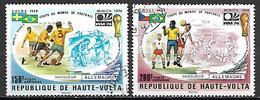 HAUTE VOLTA  -  Poste Aérienne  -  1974 . Y&T N° 180 à 181 Oblitérés.   Foot / Mondial Munich / Allemagne - Alto Volta (1958-1984)