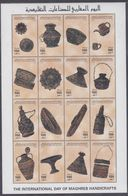 Libye N° 2031 / 46 XX Journée Mondiale De L'artisanat , Les 16  Vals Ss Ch. Imprimées En Une Petite Feuille, TB - Libia