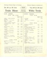 Horaire Et Instructions Bilingue ( FR/NL ) Pélérinage à Lourdes Du 20 Au 28 Juin 1939 - Train Blanc - Godsdienst & Esoterisme