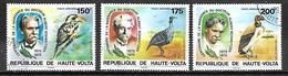 HAUTE VOLTA   -  Poste Aérienne  -  1975 . Y&T N°190 à 192 Oblitérés.    Dr. Schweitzer  /  Oiseaux. - Alto Volta (1958-1984)