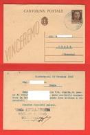 Scodovacca Cervignano Azienda Agricola Distilleria Cartolina Sollecito Viaggiata 1942 Per Noale - Winkels