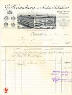 1916 Seidenfabrikant G. Henneberg In Zürich - Switzerland