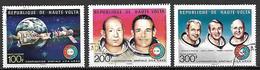 HAUTE VOLTA  -  Poste Aérienne  - 1975    .Y&T N°193 à 195 Oblitérés.    Espace  /  Cosmos  /  Fusées. - Alto Volta (1958-1984)