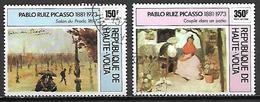 HAUTE VOLTA   -  Poste Aérienne  - 1975    .Y&T N°196 à 197 Oblitérés.    Pablo Picasso - Alto Volta (1958-1984)