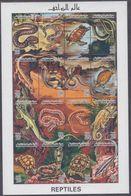 Libye N° 2079 / 94 XX  Faune Reptiles, Les 16  Valeurs Sans Charnière Imprimées En Une Petite Feuille, TB - Libië
