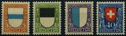 SCHWEIZ BUNDESPOST 175-78 **, 1922, Pro Juventute, Prachtsatz, Mi. 35.- - Unused Stamps