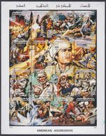 Libye N° 2095 / 2011 XX 10è Ann. De L'agression Américaine, Les 16  Valeurs Sans Ch. Imprimées En Une Petite Feuille, TB - Libia