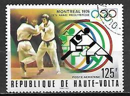 HAUTE VOLTA   -  Poste Aérienne  -  1976 .  Y&T N° 201 Oblitéré.  Judo - Alto Volta (1958-1984)