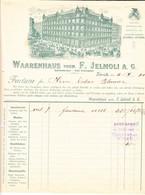 1900 Warenhaus Vorm. F. Jelmoli AG In Zürich Mit Pferdetram Und Kutschen. Minim Fleckig - Switzerland