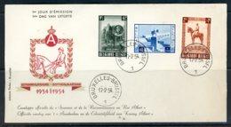 BE   FDC  938 - 940      ---    Impeccable   ---   Monument Roi Albert. - 1951-60