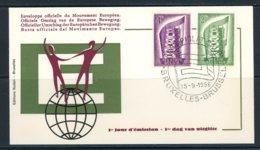 BE   FDC  994 - 995    ---    Impeccable   ---   Europa - 1951-60