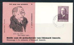 BE   FDC  997    ---    Impeccable   ---   Edouard Anseele - 1951-60