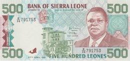 500 LEONES 1991 - Sierra Leone