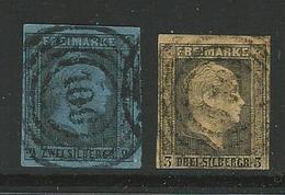 Germania - PRUSSIA 1850 /56 - Effige Di Federico IV - N. 4 E 5 Usati - Cat. 50 € -  Lotto 3331 - Preussen