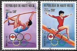 HAUTE VOLTA   -  Poste Aérienne  -  1976 .  Y&T N° 203 / 204 Oblitérés. Perche  /  Poutre - Alto Volta (1958-1984)