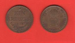 Ein Kreuzer 1816 A Wien Austria - Austria