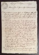 BONCONVENTO BOLOGNA -1/10/1814 DIPARTIMENTO  RENO RUBICONE BASSO PO G.P. 50 C. - DOCUMENTO MANOSCRITTO IN DOPPIO FOGLIO - Historical Documents