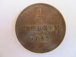 Germany: Württemberg 1/2 Kreuzer 1842 - [ 1] …-1871 : Stati Tedeschi