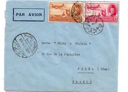 Egy231 / ÄGYPTTEN -  Flugpostausgabe Von 1947, Frankiert Auf Brief Nach Paris - Covers & Documents
