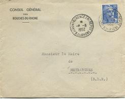 AIX-EN-PROVENCE ENTREPOT: Cachet à Date Type A 6 / 1952 - Cachets Manuels