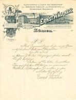1895 Rechnung Der Firma E. Walcker, Lampen Und Küchenbestandteile - Switzerland