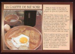 CPM Recette De Cuisine La Galette De Blé Noir - Recettes (cuisine)