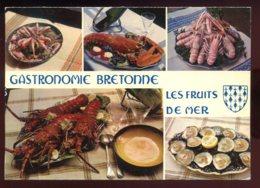 CPM Recette De Cuisine Gastronomie Bretonne Les Fruits De Mer - Recettes (cuisine)