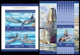 SOLOMON Isl. 2016 - Submarines - YT CV=33 €, 3237-40 + BF558 - Submarines