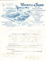 1897 Fabrikation Speise-Essig, Oele Und Benzin, Woodtli & Kuhn. Fabrik Mit Geleiseanschluss In Zürich - Switzerland