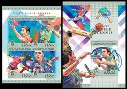 SOLOMON Isl. 2016 - Table Tennis - YT CV=33 €, 3241-4 + BF559 - Tennis Tavolo