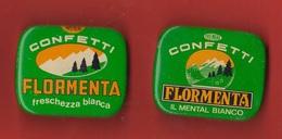 Torino Vallecrosia 2 Scatole Latta Confetti FLORMENTA Caramelle Boîtes De Bonbons Candy Boxes - Boxes