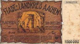 ALLEMAGNE Stadt Landkreis AACHEN 1923 Eine Million 1 000 000 Mark - 1918-1933: Weimarer Republik
