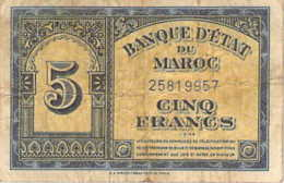 MAROC 5 Francs 1944 Bel état - Marocco