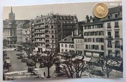 Geneve, Genf, Place Longemalle, Hotel Elite, Alte Autos, 1935 - GE Genève